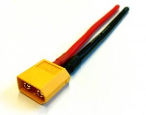 Das vorgelötete Kabel mit XT60 Stecker für den Akku