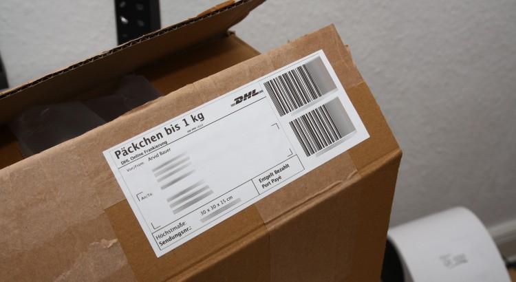 Paketmarken für Etikettendrucker